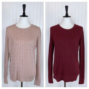 Merona • Bundle of 2 Sweaters Pink Burgundy • XXL